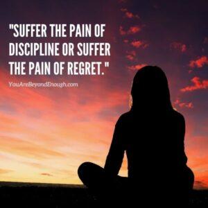 Self-Discipline Quote about Regret