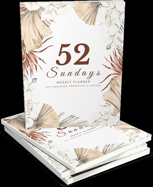 52 Sundays Planner