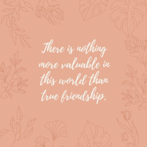 the value of friendships