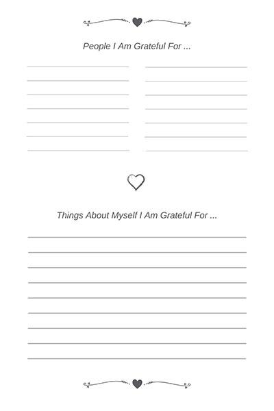 A Grateful Heart Gratitude Journal Page