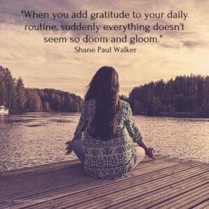 Gratitude Quote by Shane Paul Walker