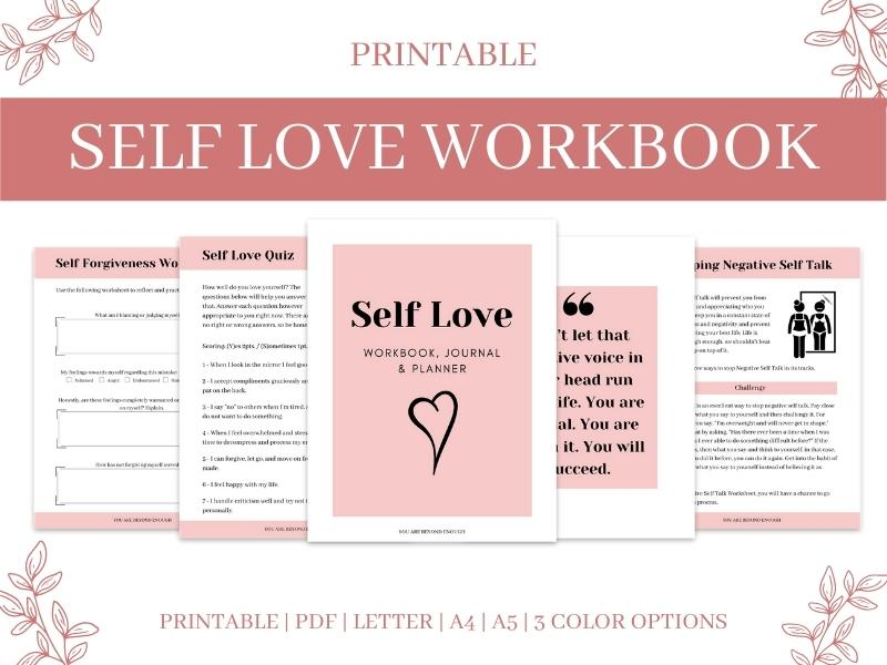 Self Love Workbook Product Image